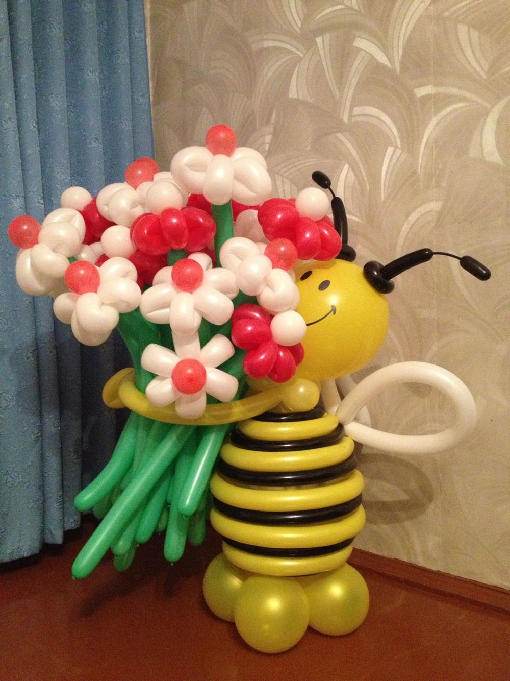 Пчелка из шаров своими руками мастер класс